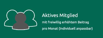 Aktives Mitglied | freiwllg. Beitrag / monatl. (individuell)